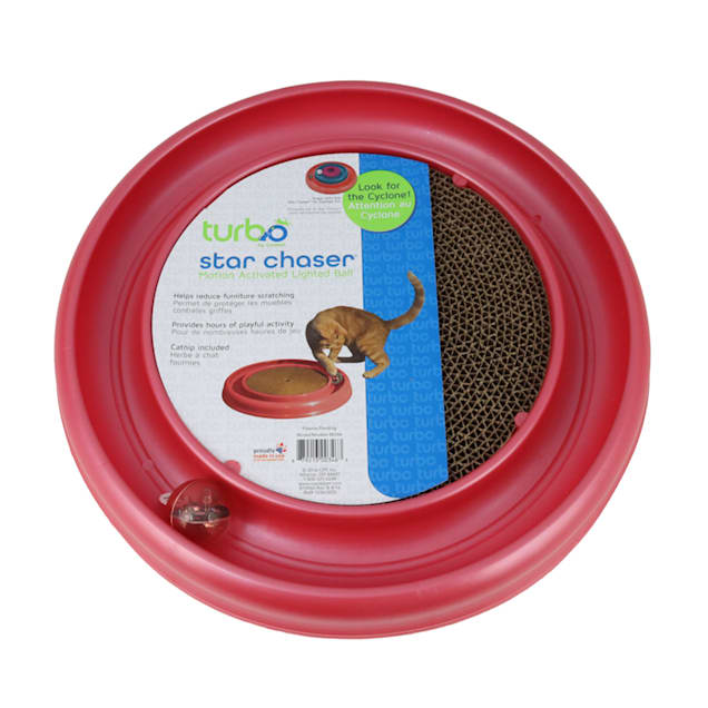 "Bergan Star Chaser Turbo Scratcher Cat Toy Assorted, 15.5"" Diameter - Carousel image #1"
