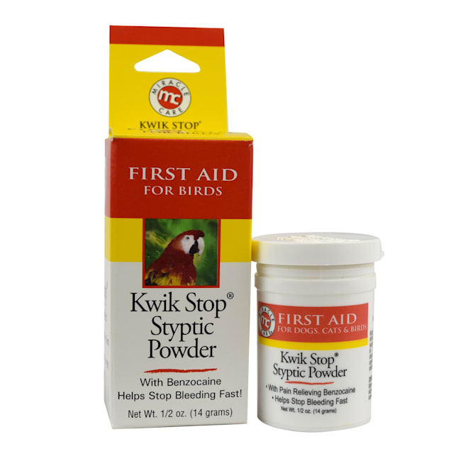 Miracle Care Kwik Stop Styptic Powder for Birds, .5 oz. - Carousel image #1