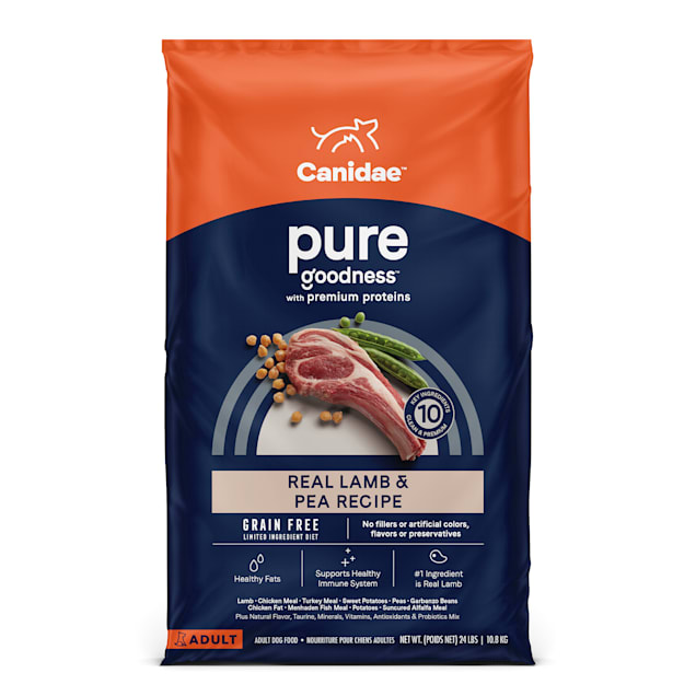 CANIDAE PURE Grain Free Limited Ingredient Real Lamb & Pea Dry Dog Food, 24 lbs. - Carousel image #1