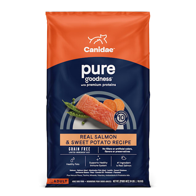CANIDAE PURE Real Salmon & Sweet Potato, Limited Ingredient, Grain Free Recipe Dry Dog Food, 24 lbs. - Carousel image #1