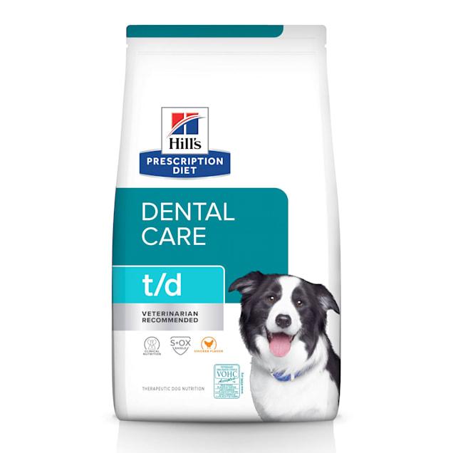 Hill's Prescription Diet t/d Dental Care Original Bites Chicken Flavor Dry Dog Food, 25 lbs., Bag - Carousel image #1