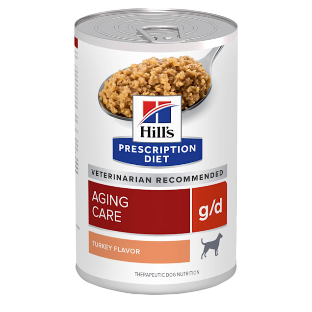 Hill's Prescription Diet g/d Aging Care Turkey Flavor Canned Dog Food, 13 oz., Case of 12 - Carousel image #1