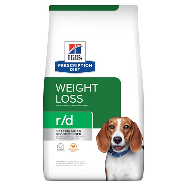 Hill's Prescription Diet r/d Weight Reduction Chicken Flavor Dry Dog Food, 27.5 lbs., Bag - Carousel image #1