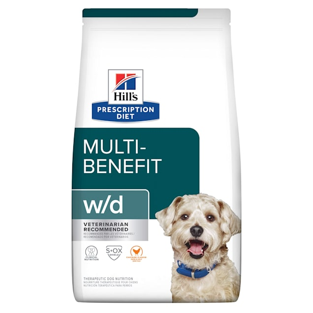 Hill's Prescription Diet w/d Digestive/Weight/Glucose Management Chicken Flavor Dry Dog Food, 27.5 lbs., Bag - Carousel image #1