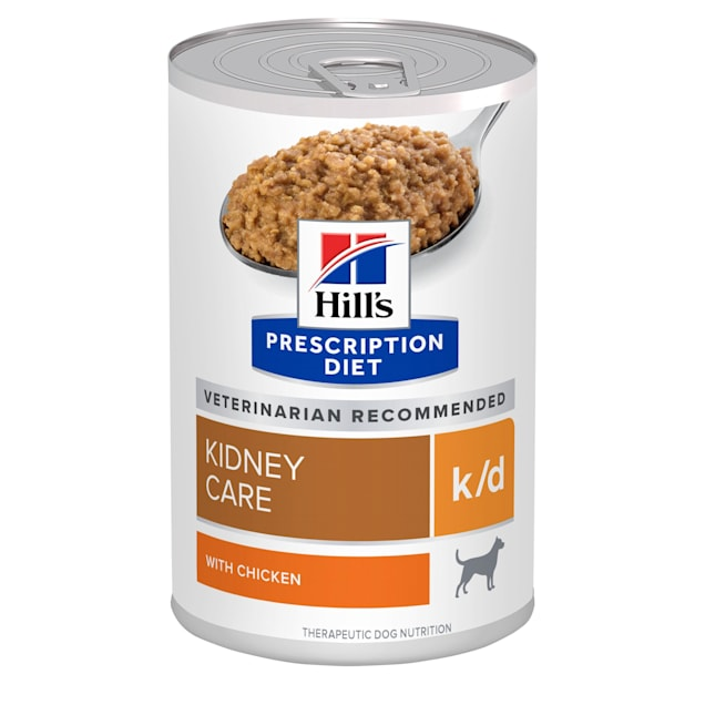 Hill's Prescription Diet k/d Kidney Care with Chicken Canned Dog Food, 13 oz., Case of 12 - Carousel image #1