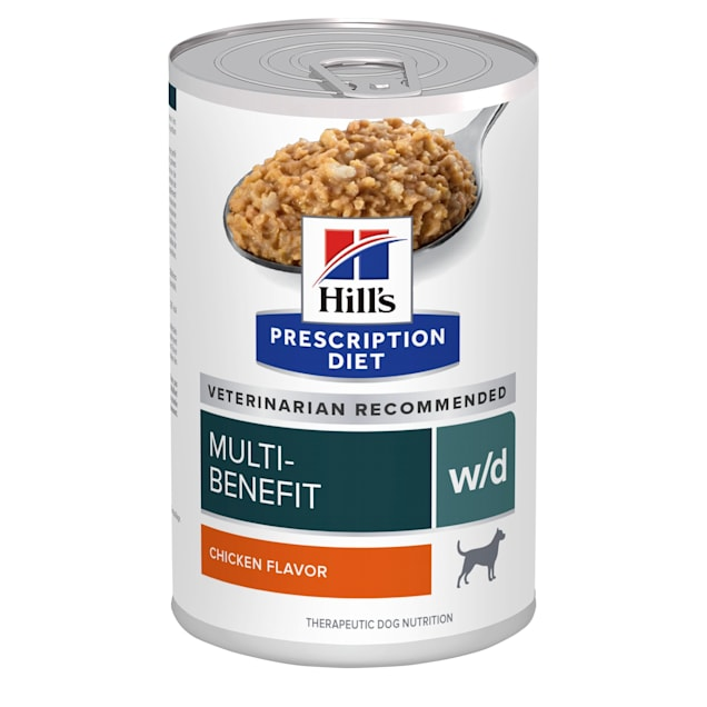 Hill's Prescription Diet w/d Digestive/Weight/Glucose Management with Chicken Canned Dog Food, 13 oz., Case of 12 - Carousel image #1