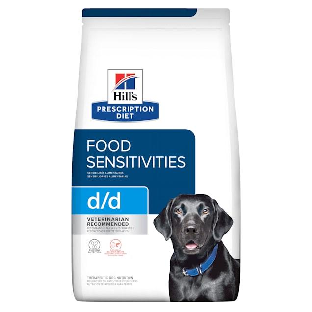 Hill's Prescription Diet d/d Skin/Food Sensitivities Potato & Salmon Formula Dry Dog Food, 17.6 lbs., Bag - Carousel image #1