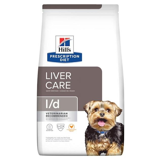 Hill's Prescription Diet l/d Liver Care Pork Flavor Dry Dog Food, 17.6 lbs., Bag - Carousel image #1