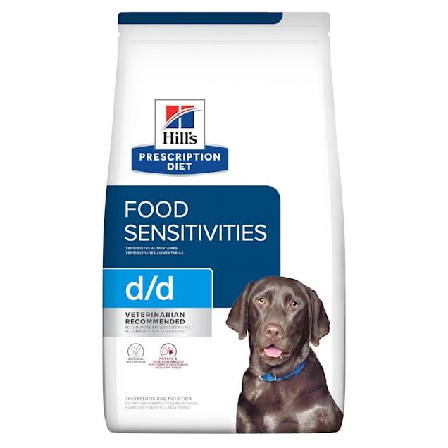 Hill's Prescription Diet d/d Skin/Food Sensitivities Potato & Venison Formula Dry Dog Food, 17.6 lbs., Bag - Carousel image #1