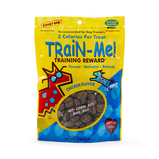 Crazy Dog Train-Me! Mini Training Reward Chicken Dog Treats, 4-oz bag, 200 count. - Carousel image #1
