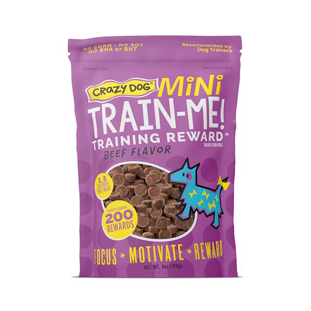 Crazy Dog Train-Me! Mini Training Reward Beef Dog Treats, 4-oz bag - Carousel image #1