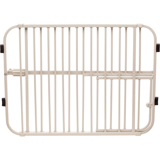 """Carlson Pet Products Lil' Tuffy Expandable Gate with Small Pet Door, 26""""-38"""" W X 18"""" H - Carousel image #1"""