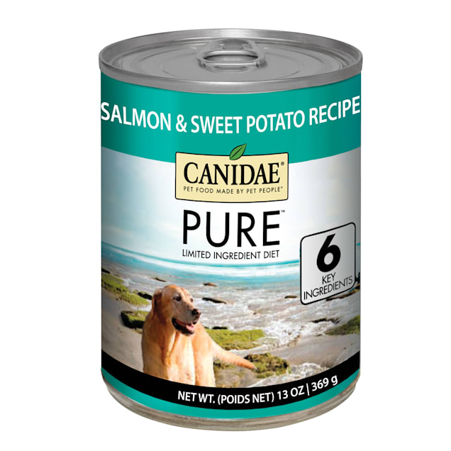 Canidae Pure Grain Free Limited Ingredient Diet Salmon & Sweet Potato Recipe Wet Dog Food, 13 oz., Case of 12 - Carousel image #1