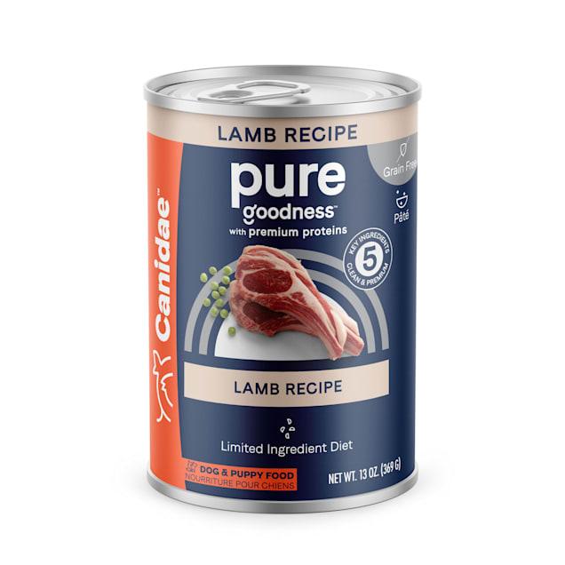 CANIDAE PURE Grain Free Lamb Formula Wet Dog Food, 13 oz., Case of 12 - Carousel image #1