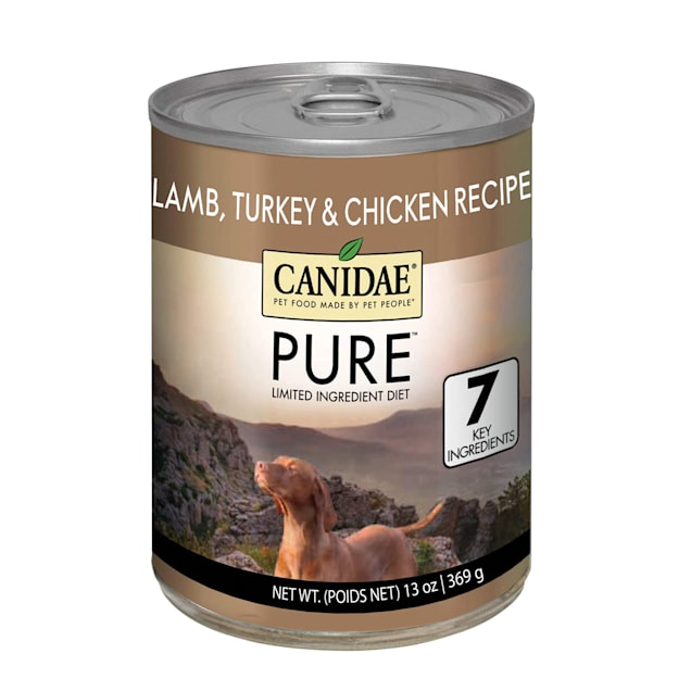 Canidae PURE Grain Free Limited Ingredient Diet Lamb, Turkey & Chicken Recipe Wet Dog Food, 13 oz., Case of 12 - Carousel image #1