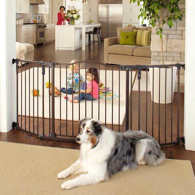 """North States My Pet Extra Wide Windsor Arch Petgate, 38.3""""-72"""" W X 30"""" H - Carousel image #1"""