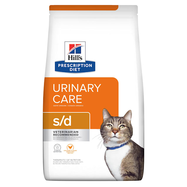 Hill's Prescription Diet s/d Urinary Care Chicken Flavor Dry Cat Food, 4 lbs., Bag - Carousel image #1