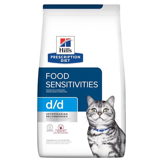 Hill's Prescription Diet d/d Skin/Food Sensitivities Venison & Green Pea Formula Dry Cat Food, 8.5 lbs., Bag - Carousel image #1