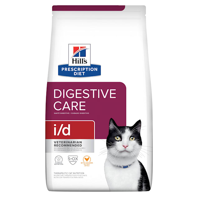 Hill's Prescription Diet i/d Digestive Care Chicken Flavor Dry Cat Food, 8.5 lbs., Bag - Carousel image #1