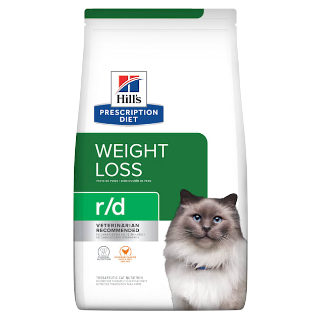 Hill's Prescription Diet r/d Weight Reduction Chicken Flavor Dry Cat Food, 17.6 lbs., Bag - Carousel image #1