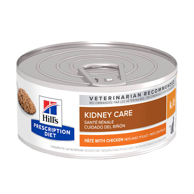 Hill's Prescription Diet k/d Kidney Care with Chicken Canned Cat Food, 5.5 oz., Case of 24 - Carousel image #1