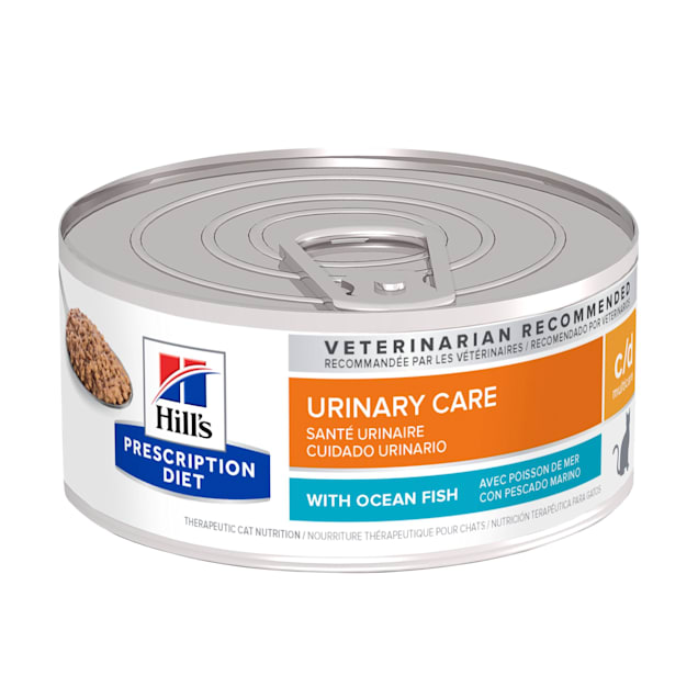 Hill's Prescription Diet c/d Multicare Urinary Care with Ocean Fish Canned Cat Food, 5.5 oz., Case of 24 - Carousel image #1