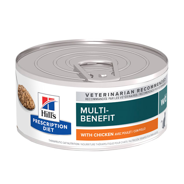 Hill's Prescription Diet w/d Digestive/Weight Management with Chicken Canned Cat Food, 5.5 oz., Case of 24 - Carousel image #1
