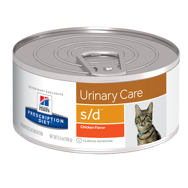Hill's Prescription Diet s/d Urinary Care Chicken Flavor Canned Cat Food, 5.5 oz., Case of 24 - Carousel image #1