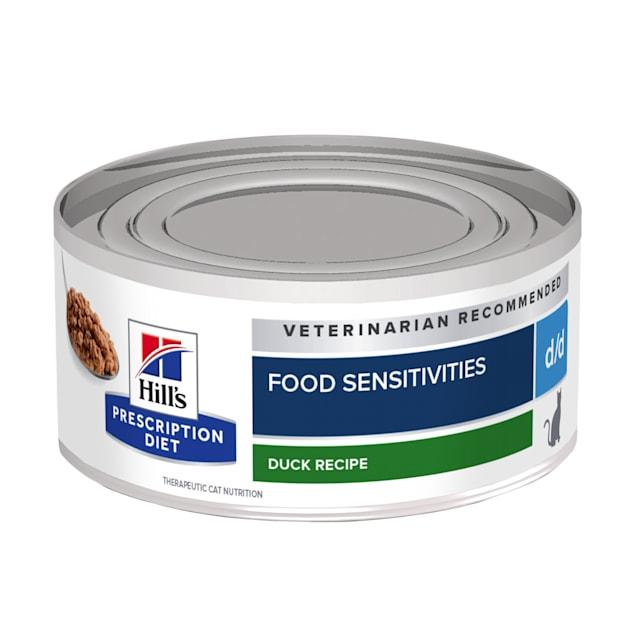Hill's Prescription Diet d/d Skin/Food Sensitivities Duck Formula Canned Cat Food, 5.5 oz., Case of 24 - Carousel image #1