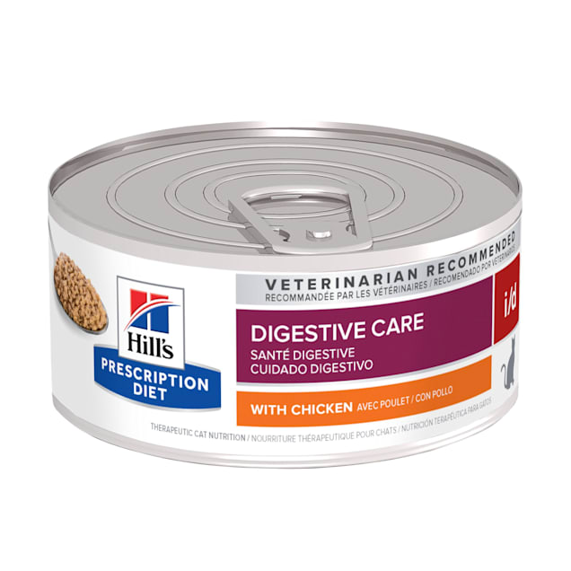 Hill's Prescription Diet i/d Digestive Care with Chicken Canned Cat Food, 5.5 oz., Case of 24 - Carousel image #1