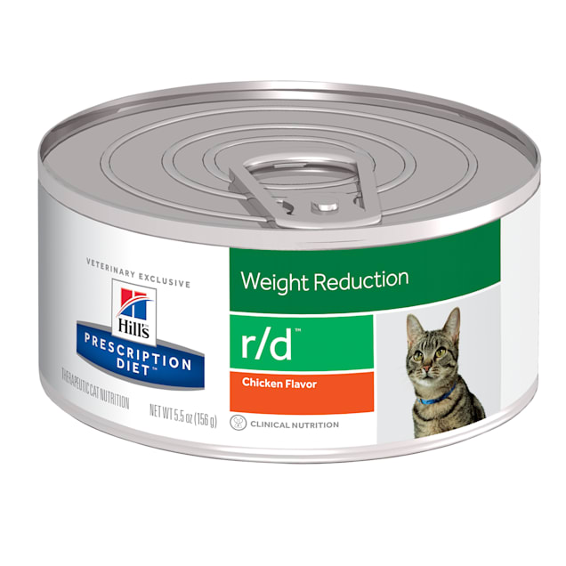 Hill's Prescription Diet r/d Weight Reduction Chicken Flavor Canned Cat Food, 5.5 oz., Case of 24 - Carousel image #1