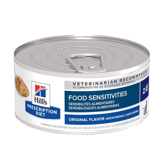 Hill's Prescription Diet z/d Skin/Food Sensitivities Original Canned Cat Food, 5.5 oz., Case of 24 - Carousel image #1