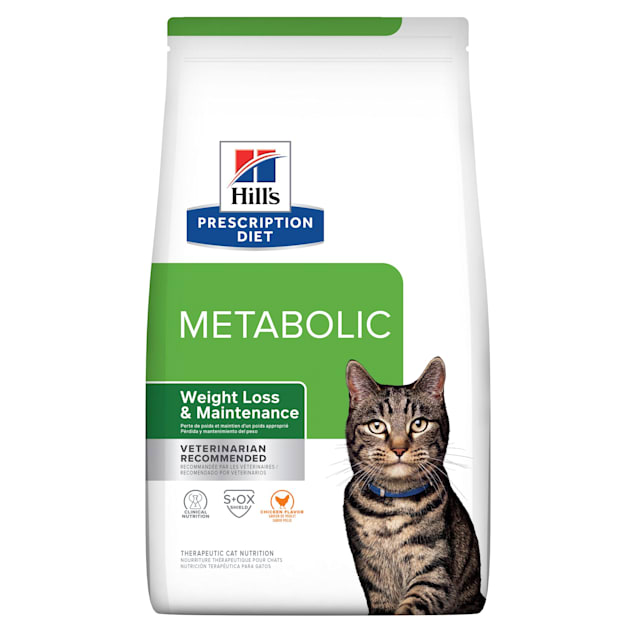 Hill's Prescription Diet Metabolic Weight Management Chicken Flavor Dry Cat Food, 17.6 lbs., Bag - Carousel image #1