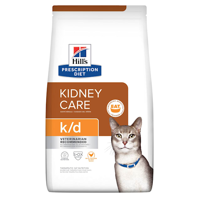 Hill's Prescription Diet k/d Kidney Care with Chicken Dry Cat Food, 8.5 lbs., Bag - Carousel image #1