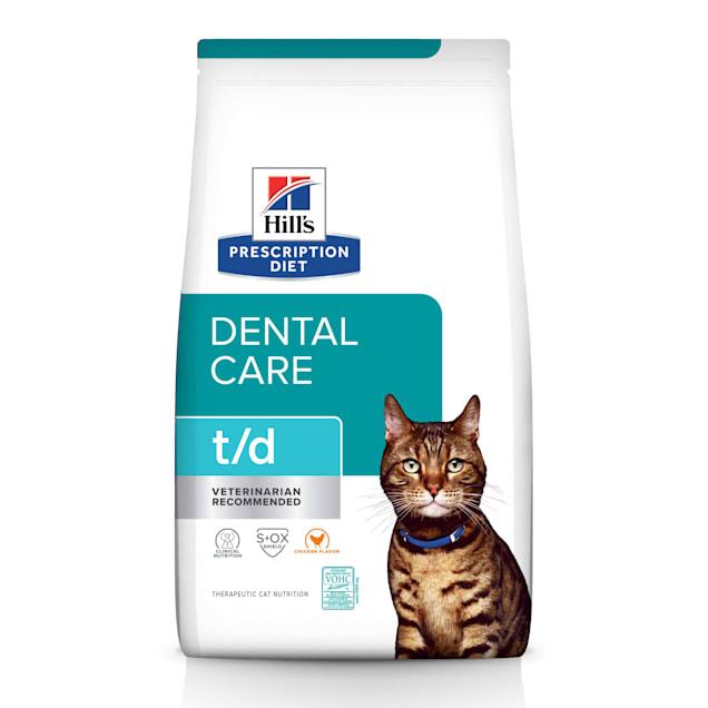 Hill's Prescription Diet t/d Dental Care Chicken Flavor Dry Cat Food, 8.5 lbs., Bag - Carousel image #1