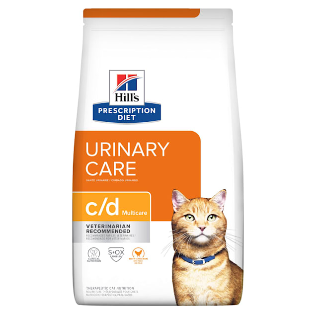 Hill's Prescription Diet c/d Multicare Urinary Care with Chicken Dry Cat Food, 17.6 lbs., Bag - Carousel image #1