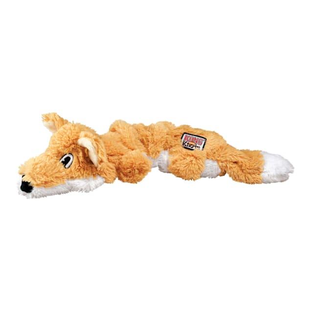 KONG Scrunch Knots Fox Dog Toy, Medium - Carousel image #1