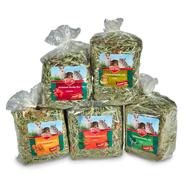 Kaytee All Natural Timothy Hay Plus Variety Pack for Rabbits & Small Animals, 50 oz. - Carousel image #1