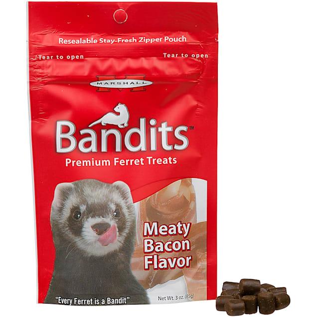 Marshall Pet Products Bandits Premium Bacon Ferret Treats, 3 oz. - Carousel image #1