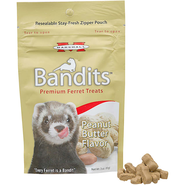 Marshall Pet Products Bandits Premium Peanut Butter Ferret Treats, 3 oz. - Carousel image #1