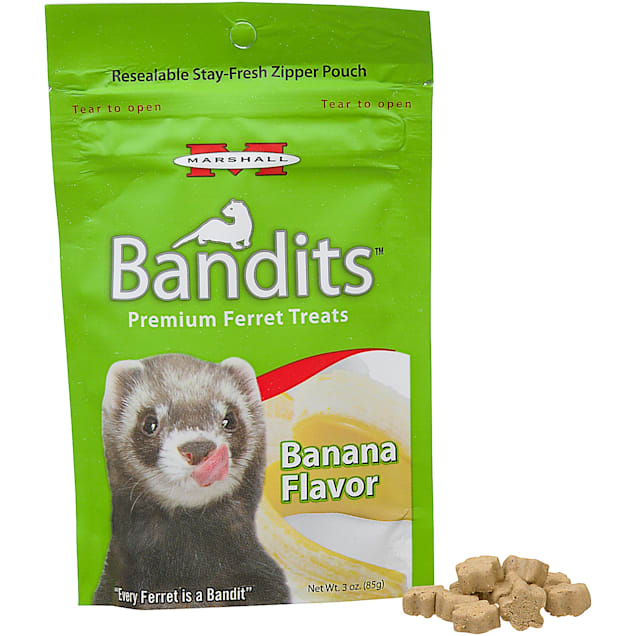 Marshall Pet Products Bandits Premium Banana Ferret Treats, 3 oz. - Carousel image #1