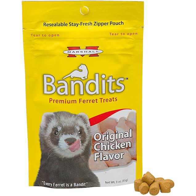 Marshall Pet Products Bandits Premium Chicken Ferret Treats, 3 oz. - Carousel image #1