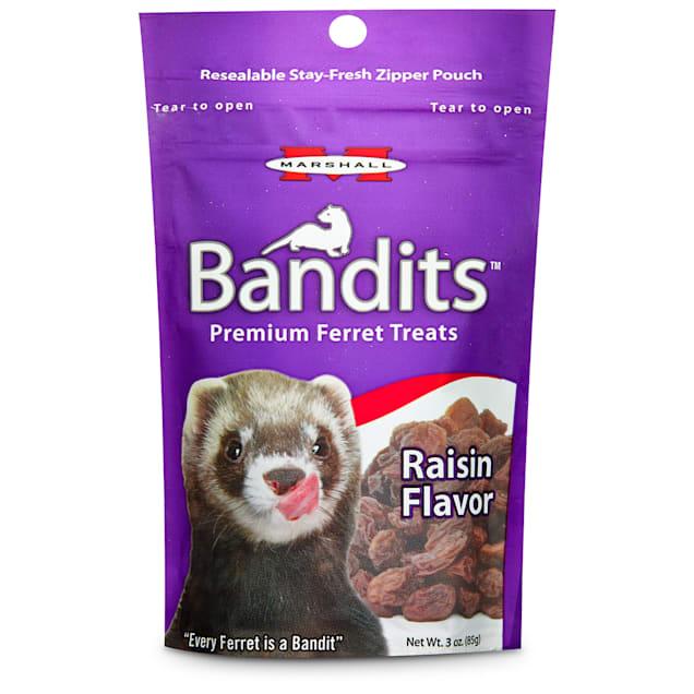 Marshall Pet Products Bandits Premium Raisin Ferret Treats, 3 oz. - Carousel image #1