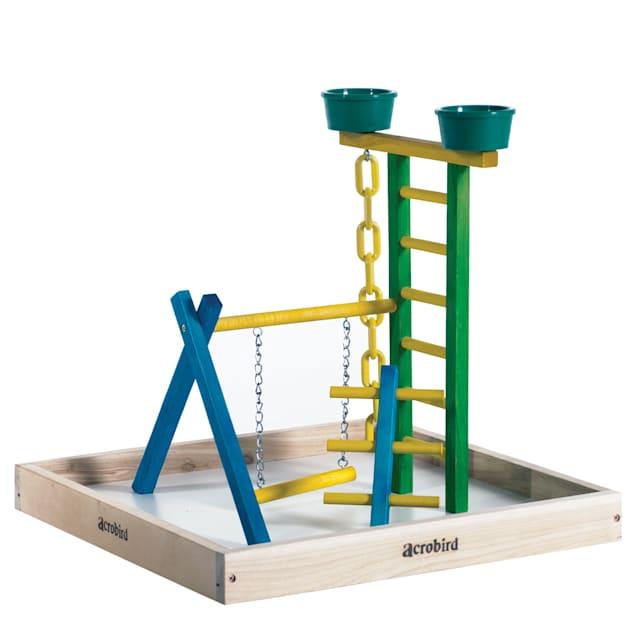 "Caitec Acrobird Small Bird Playground, 18"" Base - Carousel image #1"