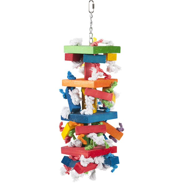 "Caitec Block Knots Hanging Bird Toy, 8"" X 22"" - Carousel image #1"
