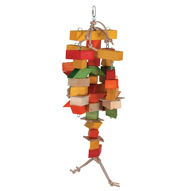 """Caitec Spinning Chew Mobile Bird Toy, 10"""" W X 18"""" H - Carousel image #1"""