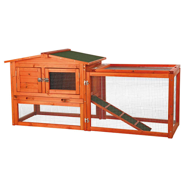 """Trixie Natura Animal Hutch with Outdoor Run, 61"""" L X 20.75"""" W X 27.5"""" H - Carousel image #1"""