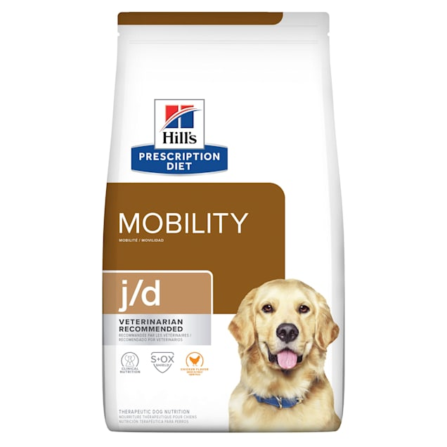 Hill's Prescription Diet j/d Joint Care Original Bites Chicken Flavor Dry Dog Food, 27.5 lbs., Bag - Carousel image #1