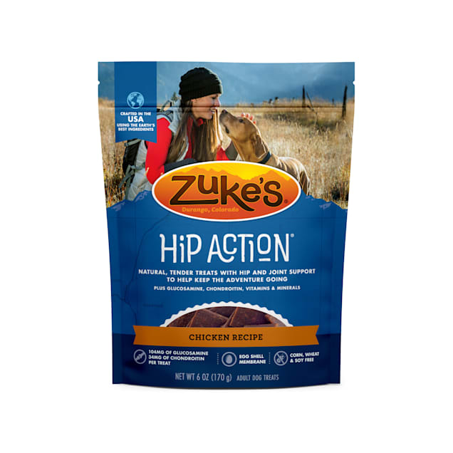 Zuke's Hip Action Hip & Joint Chicken Recipe Dog Treats, 6 oz. - Carousel image #1