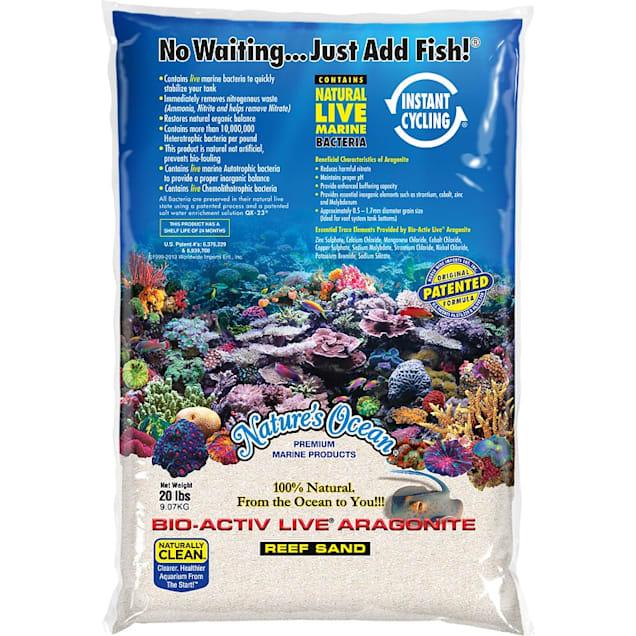 Nature's Ocean Bio-Activ Live Aragonite Reef Sand 0.1-0.5mm, 20 lbs. - Carousel image #1
